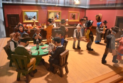 Gambling saloon scene at the Nelson Museum of the West in Cheyenne, Wyoming