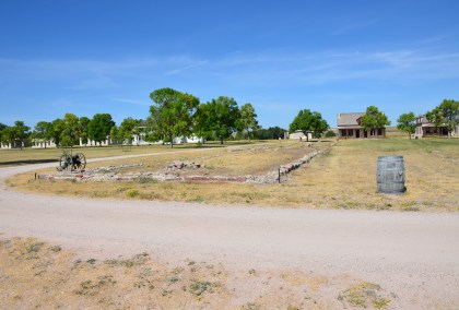 Infantry barracks at Fort Laramie National Historic Site in Wyoming