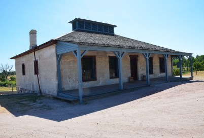 New guardhouse at Fort Laramie National Historic Site in Wyoming