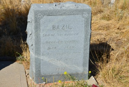 Grave of Bazil at the Sacajawea gravesite in Fort Washakie, Wyoming