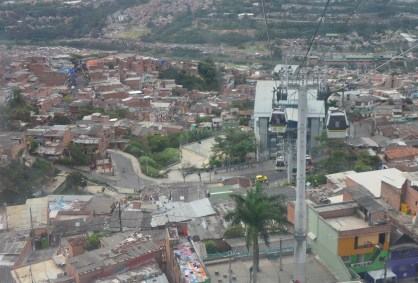 Metrocable Line K in Medellín, Antioquia, Colombia