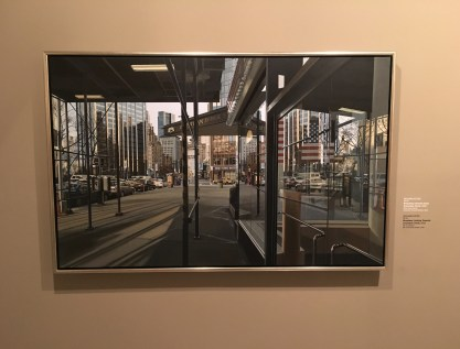 Broadway Looking Towards Columbus Circle, by Richard Estes (USA), 2002 at Museo de Antioquia, Medellín, Colombia