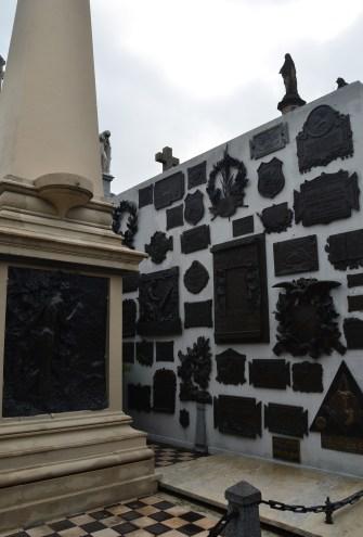 Tomb of Domingo Faustino Sarmiento at Cementerio de la Recoleta in Buenos Aires, Argentina
