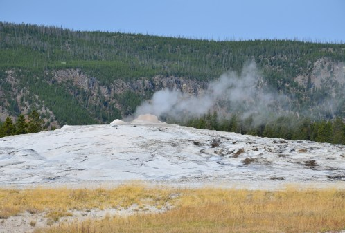 Old Faithful at the Upper Geyser Basin in Yellowstone National Park, Wyoming