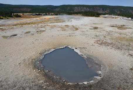 Infant Geyser on Geyser Hill at the Upper Geyser Basin in Yellowstone National Park, Wyoming