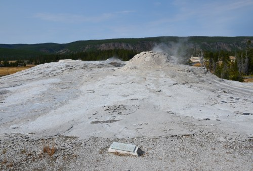 Lion Group on Geyser Hill at the Upper Geyser Basin in Yellowstone National Park, Wyoming