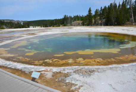 Beauty Pool at the Upper Geyser Basin in Yellowstone National Park, Wyoming
