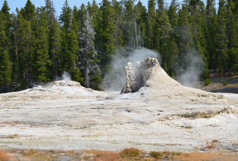 Giant Geyser at the Upper Geyser Basin in Yellowstone National Park, Wyoming