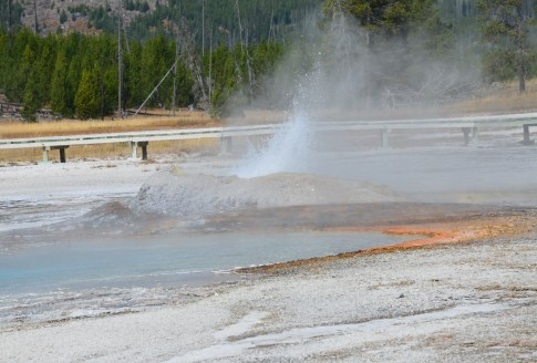 Comet Geyser at the Upper Geyser Basin in Yellowstone National Park, Wyoming