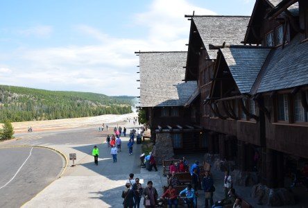 Old Faithful Inn in Yellowstone National Park, Wyoming