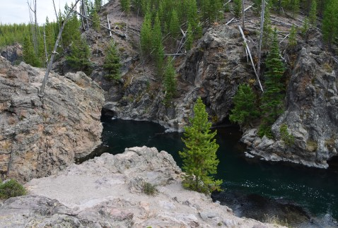 Float through the canyon here at Firehole Canyon Drive in Yellowstone National Park, Wyoming