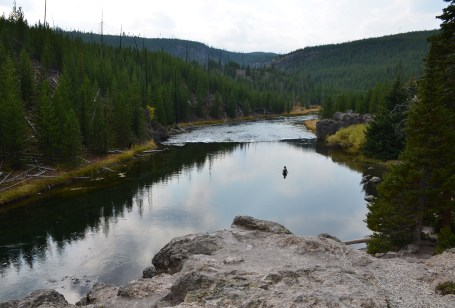 Swimming hole at Firehole Canyon Drive in Yellowstone National Park, Wyoming