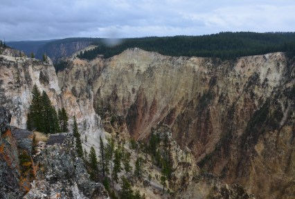 Grand Canyon at Lookout Point at Grand Canyon of the Yellowstone in Yellowstone National Park, Wyoming