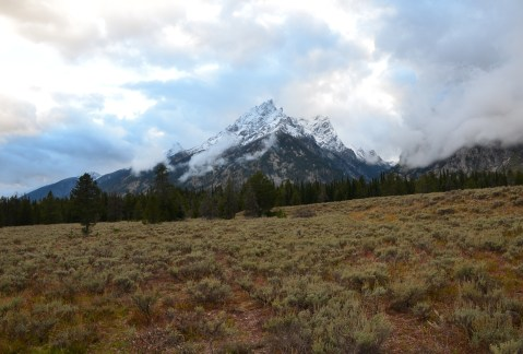 Cascade Canyon Turnout on Teton Park Road in Grand Teton National Park, Wyoming