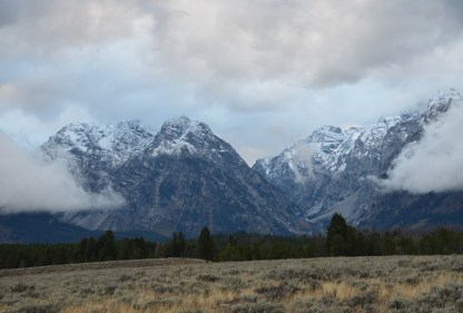 Mount Moran Turnout on Teton Park Road in Grand Teton National Park, Wyoming