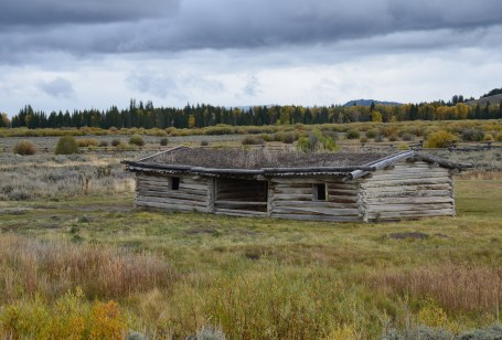 Cunningham Cabin Historic Site on Highway 89 in Grand Teton National Park, Wyoming