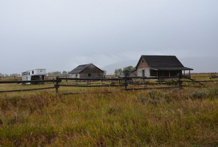 Andy Chambers Homestead on Mormon Row in Grand Teton National Park, Wyoming
