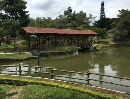 Pond at Parque Consotá in Galicia, Risaralda, Colombia