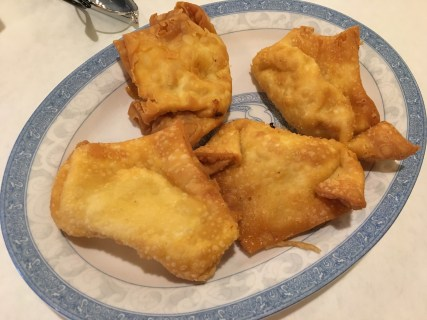 Crab rangoon at Emperor's Choice in Chinatown, Chicago, Illinois