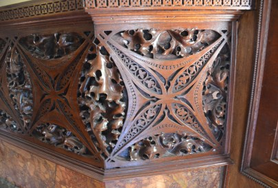 Woodwork on the dining room fireplace of the Charnley-Persky House in Chicago, Illinois