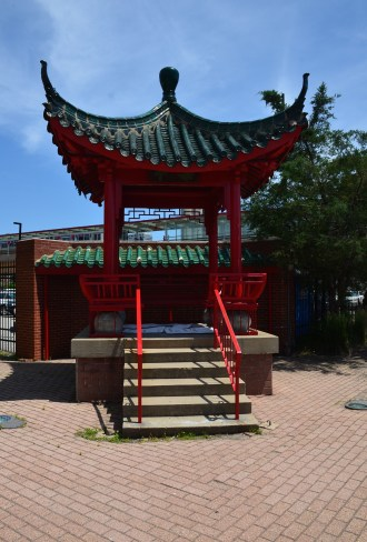 Chinese Pavilion in Chinatown, Chicago, Illinois