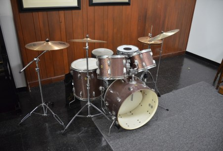 Drums played by Charlie Watts at Chess Records building (Willie Dixon's Blues Heaven) in Chicago, Illinois