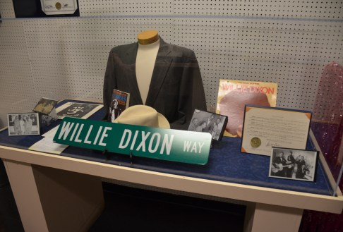 Willie Dixon memorabilia at Chess Records building (Willie Dixon's Blues Heaven) in Chicago, Illinois