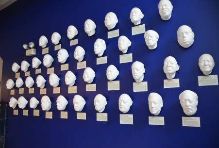 Life masks at Chess Records building (Willie Dixon's Blues Heaven) in Chicago, Illinois