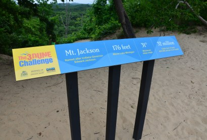 Mt. Jackson on Trail #8 at Indiana Dunes State Park