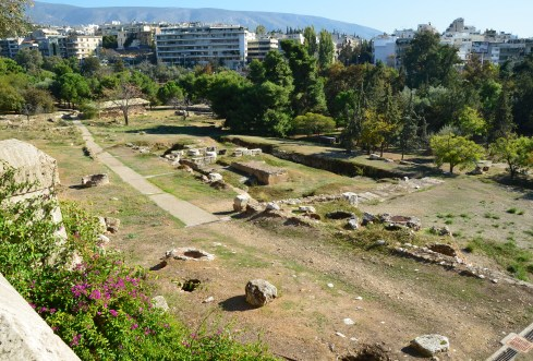 Parilissia Sanctuaries at Temple of Olympian Zeus in Athens, Greece