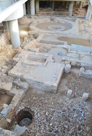 Archaeological site at the Acropolis Museum in Athens, Greece