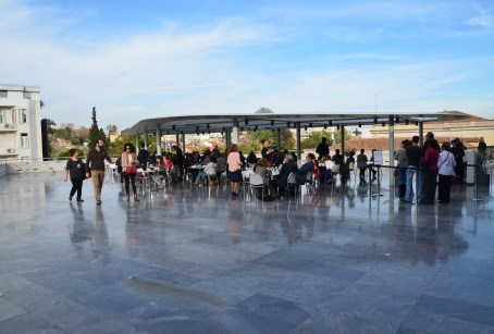 Rooftop café at the Acropolis Museum in Athens, Greece