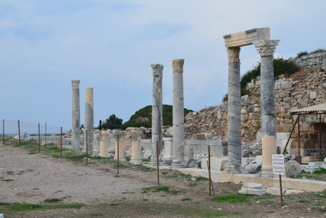 Stoa at Knidos on Datça Peninsula, Turkey