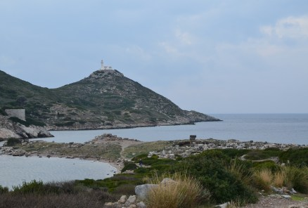 View of the lighthouse at Knidos on Datça Peninsula, Turkey