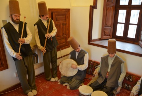 Sufi music display at the Mevlâna Müzesi in Konya, Turkey