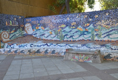 Mosaic on Purisima in Bellavista, Santiago de Chile
