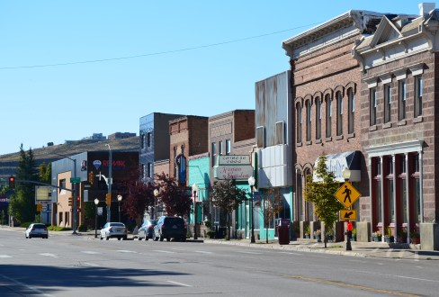 Front Street in Evanston, Wyoming