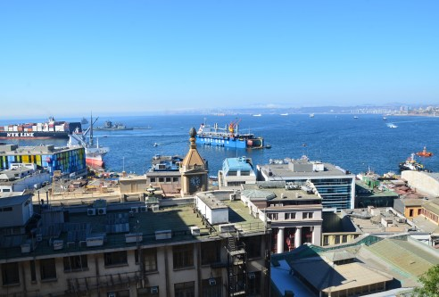 The view from Paseo Gervasoni in Valparaíso, Chile