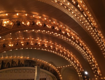 Lighting and air conditioning vents in the Auditorium Theatre in Chicago, Illinois