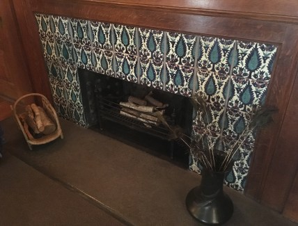 Dining room fireplace at the John J. Glessner House in Chicago, Illinois