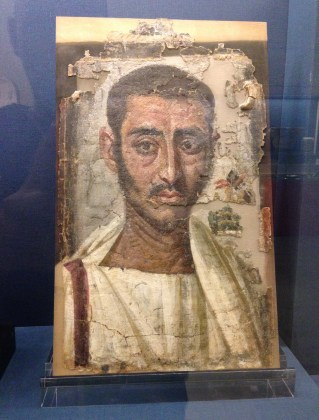 Fayoum portrait at the Benaki Museum in Athens, Greece