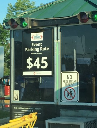$45??? parking at Soldier Field in Chicago, Illinois