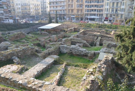 Ancient ruins in Thessaloniki, Greece