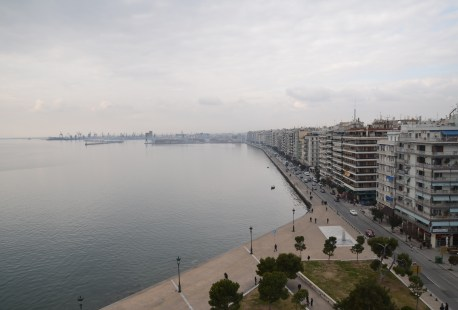 View from Lefkos Pyrgos in Thessaloniki, Greece