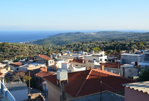 View from the upper village in Tholopotami, Chios, Greece