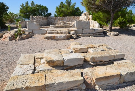 Temple of Athena at the Emporios Settlement in Chios, Greece