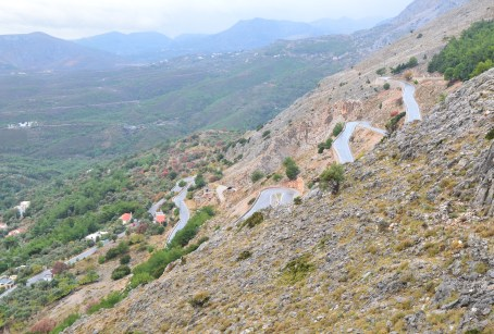 The road up Epos Hill in Vrontados, Chios, Greece