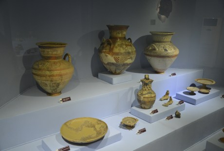 Pottery at the Izmir Archaeology Museum in Izmir, Turkey