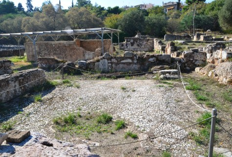 Roman houses at the Agora in Athens, Greece