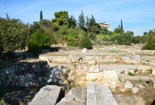 Tholos at the Agora in Athens, Greece